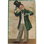 Clapsaddle Signed IAP St Patrick's Day Embossed Postcard German Germany