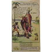 Pryor's Golden Crust Bread Trade Card Dotty, Bob and Trix Series with Elephant in Asia