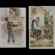 McPhail Pianos and Estey Organ Victorian Trade Cards