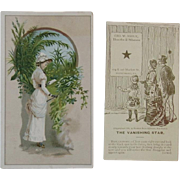 Victorian Trade Cards for Shoe Stores Optical Illusion Vanishing Star