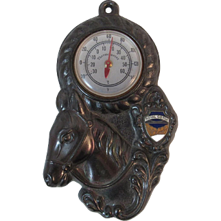 Cast Metal Horse Thermometer from Royal Gorge Colorado