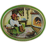 Sleepytime Tea Teddy Bear and Cat Advertising Tray from Celestial Seasonings Herb Teas Autumn Fall Colors