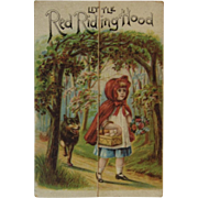 Little Red Riding Hood Miniature Booklet Raphael Tuck & Sons Victorian Trade Card Advertising from Chambersburg, PA Store