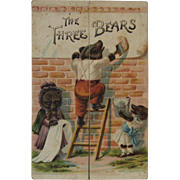 The Three Bears Miniature Booklet Raphael Tuck & Sons Victorian Trade Card Advertising from Chambersburg, PA Store