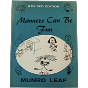 Manners Can Be Fun  Book by Munro Leaf