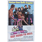 1967 Movie Poster 'Hot Rods to Hell' Plus 8 Poster Cards