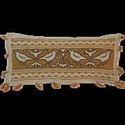 Pennsylvania Folk Art Pin Cushion Bird Needlework Decoration Vintage Sewing Pincushion