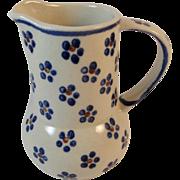 Polish Pottery Pitcher Boleslawiec Tableware Folk Art Perfect for Cream, Syrup or Gravy