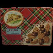 Duncan Chocolate Assortment Tin Scottish Tartan Plaid Edinburgh Castle Scotland