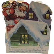 Stand Up Santa Claus Delivering Toys Christmas Card