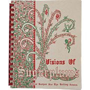 Visions of Sugarplums Christmas Cook Book Cookbook with Festive Recipes for the Holiday Season