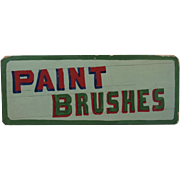 Country Store Hand Made Paint Brushes Sign Pennsylvania Folk Art
