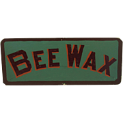 Country Store Hand Made Bee Wax Sign Pennsylvania Folk Art