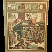 August 1933 Fortune Magazine Art Deco Era