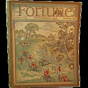 November 1933 Fortune Magazine Art Deco Era