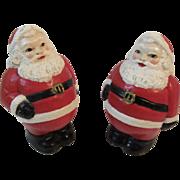 2 Vintage Santa Figurines Plaster of Paris
