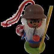Steinbach German Miniature Wood Smoker Christmas Feather Tree Ornament Germany Erzgebirge