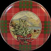 Crawford's Scotch Shortbread Tartan Plaid Christmas Litho Tin Scottish Scotland