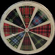 Lyons Dundee Fruit Cake Litho Tin with Tartan Plaid Decoration Scottish Scotland