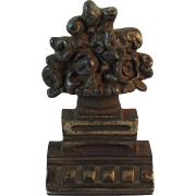 Albany Foundry Cast Iron Flower Basket Door Stop Doorstop