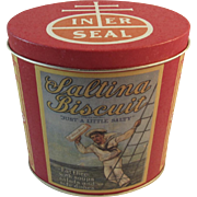 Saltina Biscuits Sailor Boy Tin by Bristol Ware for Nabisco Nautical