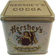 Chein Hershey's Cocoa Tin by Bristol Ware for Nabisco Cherub in a Cocoa Bean