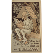 1899 Tanglefoot Fly Catcher Victorian Trade Card
