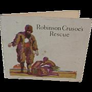 Jell-O Mini Booklet Robinson's Crusoe's Rescue Advertising Trifold Recipe Book
