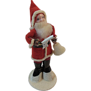 Santa Claus with Sugar Bell, Candle and Foil Star