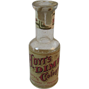 1898 Hoyt's Dime Cologne Bottle with Internal Revenue Tax Stamp Perfume