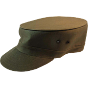 1950s US Army Louisville Spring Up Cap Hat Korean War Era Size 7 & 1/8 Military