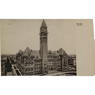 Real Photo Circa 1907 City Hall, Toronto, Canada Postcard