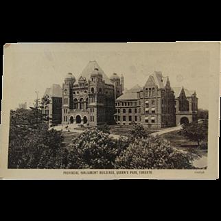 Real Photo Circa 1907 Provincial Parliament, Toronto, Canada Postcard