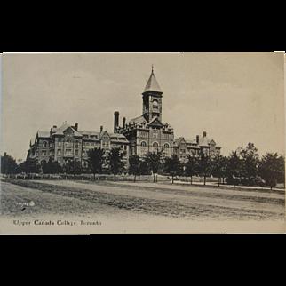 Real Photo Postcard Circa 1900's Upper Canada College, Toronto Canada