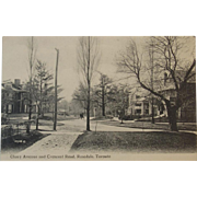 Postcard of Cluny Avenue and Crescent Road Rosedale Toronto Canada Valentine & Sons Early 1900s
