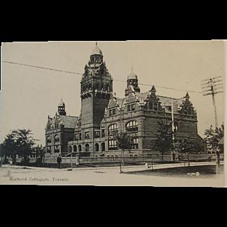Real Photo Postcard Circa 1900's Harbord Collegiate, Toronto Canada