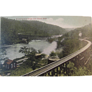 Postcard, circa 1909, B & O Railroad Bridge over Clarion River