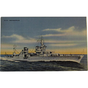Official U. S Navy Photograph Postcard U.S.S. Indianapolis