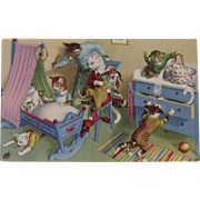 Alfred Mainzer Cats in the Nursery Postcard