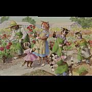 Alfred Mainzer Cats in the Garden Postcard