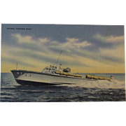 Official U. S Navy Photograph Postcard of a Patrol Torpedo Boat