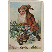 Victorian Belsnickle Santa Claus Trade Card for Philadelphia Men's Store Christmas Advertising