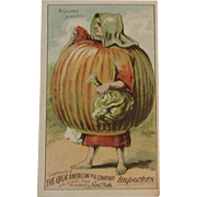 A Country Pumpkin Trade Card for the Great American Tea Company Victorian Advertising Anthropomorphic