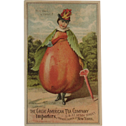 How do I a Pear Trade Card for the Great American Tea Company Victorian Advertising Anthropomorphic