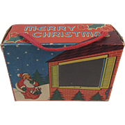 Merry Christmas Santa Candy Container Box with Cellophane Window Cardboard