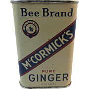 Early Bee Brand McCormick Ginger Spice Tin