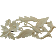 Butterfly Pin Carved Celluloid
