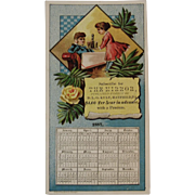 1887 Calendar Trade Card for the Hatfield PA Mirror Newspaper