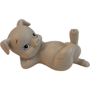 Lefton Bisque China Pig Reclining
