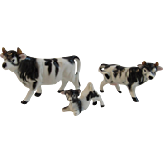 Bone China Cow Family Miniature Figurines